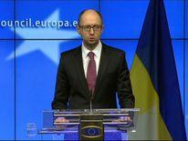 070314 UKRAINE PRIME MINISTER ARSENIY YATSENYUK AT EU