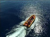 A Chinese vessel searches for a trace of flight MH370 in the Indian Ocean.