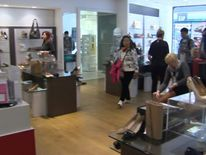 Shoppers at Browns Department Store In York.