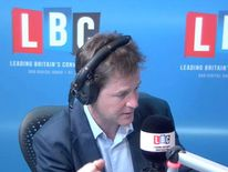 Nick Clegg on LBC Radio show