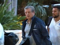 England manager Roy Hodgson arrives in Miami ahead of World Cup in Brazil