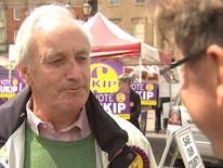 UKIP's Neil Hamilton speaks to Sky's Jason Farrell in Newark