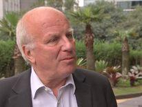 FA chairman Greg Dyke talking to Sky News in Sao Paulo