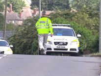 The aftermath of a fatal crash in Witney, Oxfordshire