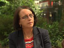Vivienne Hill daughter of an Alzheimer's sufferer talking to Sky News