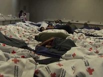 Children held at detention centres in the US