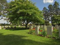 The small Belgian cemetery of St Symphorien, nears Mons