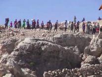 Yazidi community on Mount Sinjar, Iraq