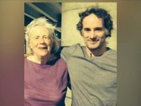 Peter Theo Curtis with mother. Photo courtesy of Curtis family