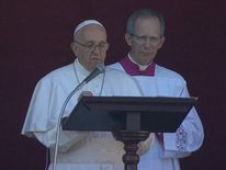Pope delivers Christmas sermon in St Peter's Square Vatican Rome