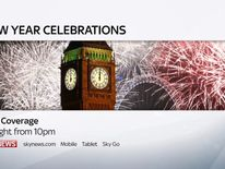 Watch live coverage of the New Year celebrations on Sky News.