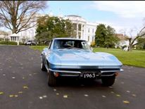 Barack Obama driven by Jerry Seinfeld around grounds of White House 2
