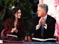 Sharon Haughey and Bill Clinton