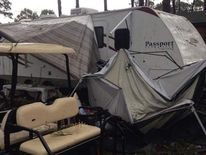 Aftermath of storm at Cherrystone campground in Virginia