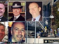 Clockwise from top left: PC Tony Collins, PC Kirsty Nelis, Samuel McGhee, Gary Arthur, David Traill