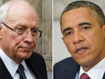 Dick Cheney (L) and Barack Obama (R)