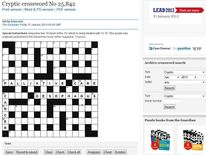 The Guardian cryptic crossword from Friday January 11, 2013