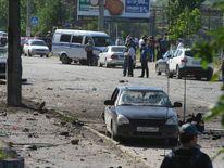 Scene of terrorist bomb attack in Makhachkala, Dagestan