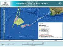 Malaysia Missing Flight MH370 Search Charts