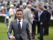 Frankie Dettori poses at Goodwood racecourse on July 31, 2012