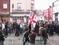 The EDL rally in Dewsbury