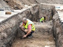 The excavation of a car park