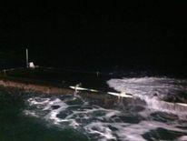 Suspected Japanese tsunami dock