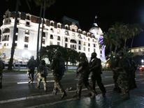 Troops on street after truck attack in Nice, France