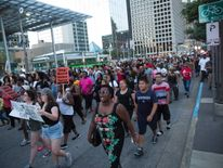 Protesters in Dallas are angry about recent shootings of black men by police officers