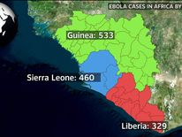 Ebola cases in Africa by country