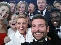 Oscars host Ellen Degeneres posted a star-studded selfie on Twitter which went on to become the most retweeted image ever.