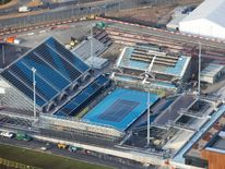 Aerial view of  Eton Manor, Paralympic only London 2012 venue on the Olympic Park
