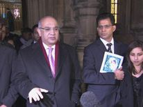 The family of Jacintha saldanha with Keith Vaz MP