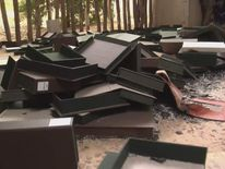 Empty document boxes at Ahmed Baba Institute of Higher Islamic Studies and Research