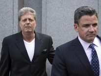 Robert Faiella (L), the accused co-conspirator of Bitcoin promoter Charlie Shrem