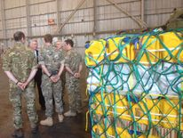 Michael Fallon visits UK troops in Cyprus
