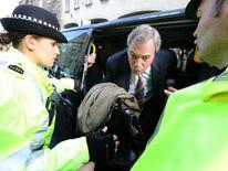 Nigel Farage protest