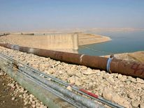 File photo of the Mosul Dam on the Tigris River in Mosul
