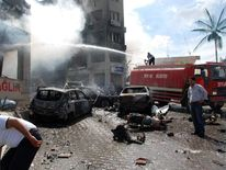 Car bomb explosion on May 11, 2013 near the town hall of Reyhanli, Turkey