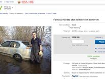 The flooded Seat Toledo for sale on eBay