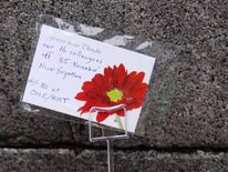 Flowers left for those who perished
