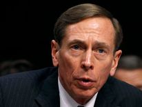 "CIA Director David Petraeus speaks to members of a Senate (Select) Intelligence hearing on ""World Wide Threats"" in January"