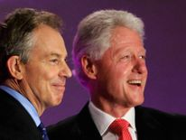 Tony Blair and Bill Clinton.