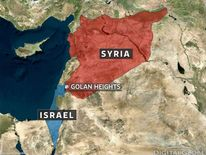 Map of Golan Heights, Syria