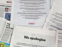Tesco apology