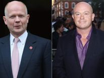 William Hague and Ross Kemp
