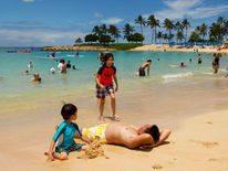A beach in Honolulu, Hawaii, on August 6 2014