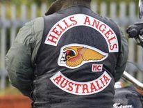 A Hells Angel member attending a funeral