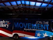 060614 $$ Ready For Hillary Super Pac Bus Hillary Clinton