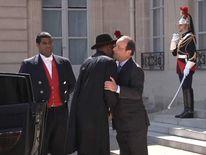 Goodluck Jonathan and Francois Hollande
